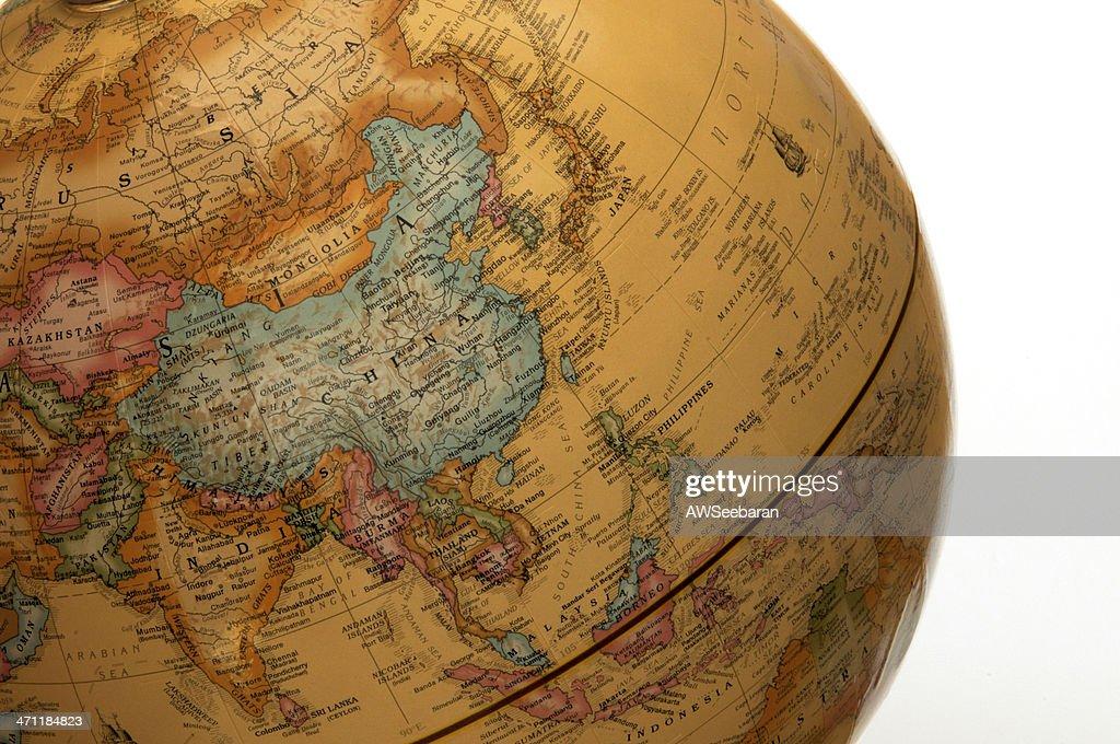 Asia Pacific on Globe : Stock Photo