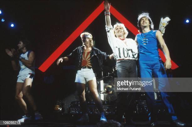 Asia perform on stage in London LR Carl Palmer Geoff Downes John Wetton Steve Howe