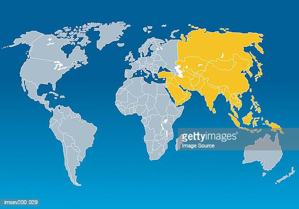 asia - asia map stock pictures, royalty-free photos & images