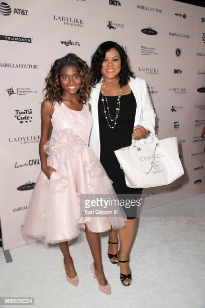 Asia Rochon Fuqua and Lela Rochon attend the Ladylike Foundation's 2018 Annual Women Of Excellence Scholarship Luncheon at The Beverly Hilton Hotel...