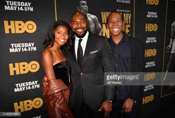 Asia Rochon Fuqua Director Executive Producer Antoine Fuqua and Zachary Fuqua attend the Los Angeles Premiere of What's My Name | Muhammad Ali from...