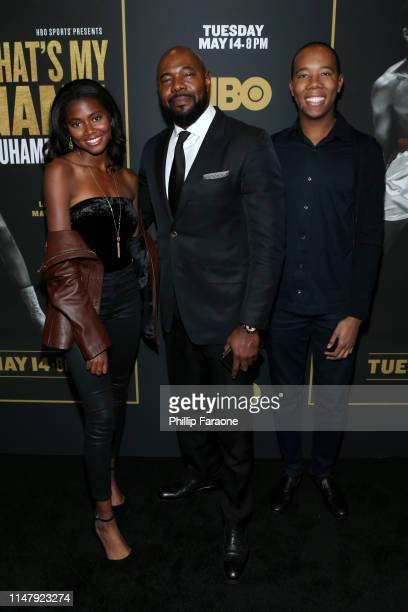 Asia Rochon Fuqua Director Executive Producer Antoine Fuqua and Zachary Fuqua attend the premiere of HBO's What's My Name Muhammad Ali at Regal...