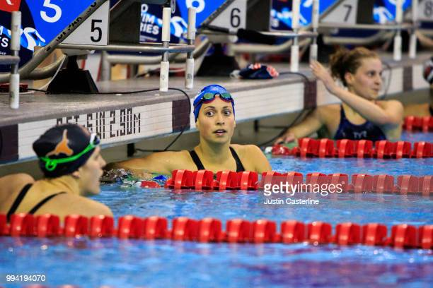 Asia Seidt wins the women's 200m IM final at the 2018 TYR Pro Series on July 8 2018 in Columbus Ohio