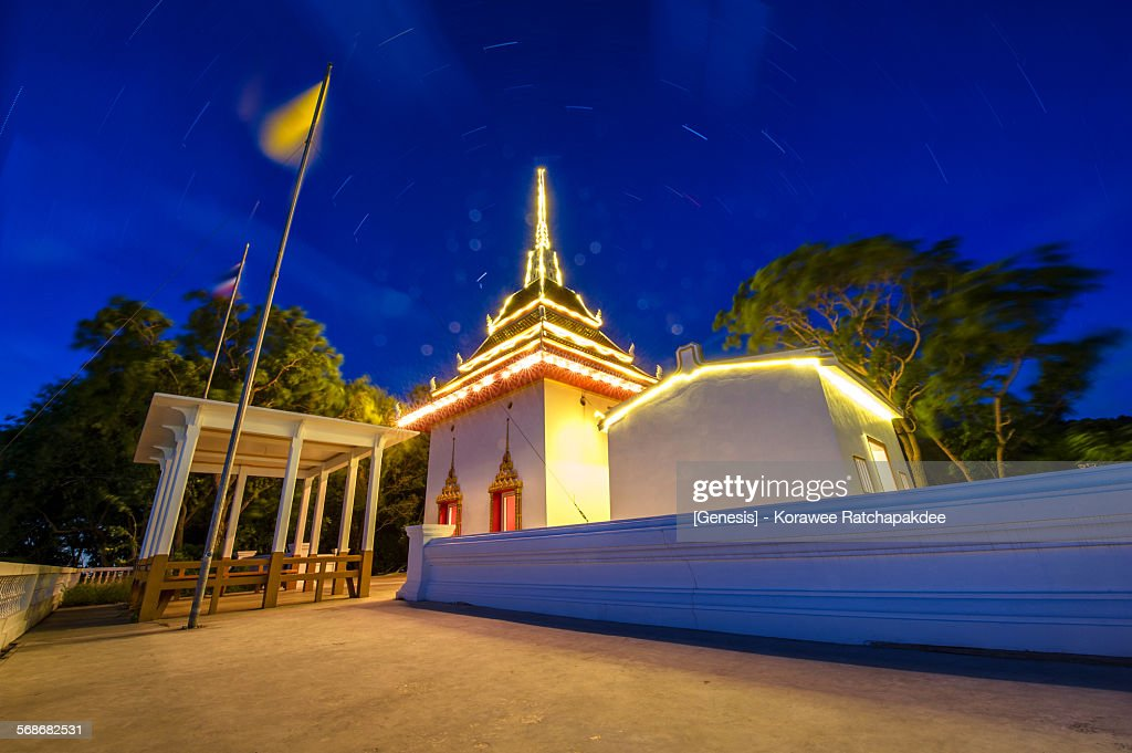 Asia temple with the star : Stock Photo