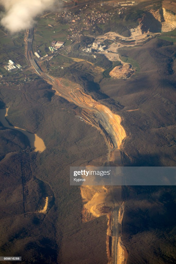 Asia, Turkey, Istanbul Area, 2018: Aerial View Of Turkish Coastline A Few Minutes Flight From Istanbul Airport : Stock-Foto