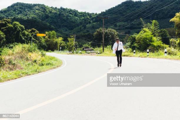 asia young docter are running at rural road . - morbillivirus stock pictures, royalty-free photos & images