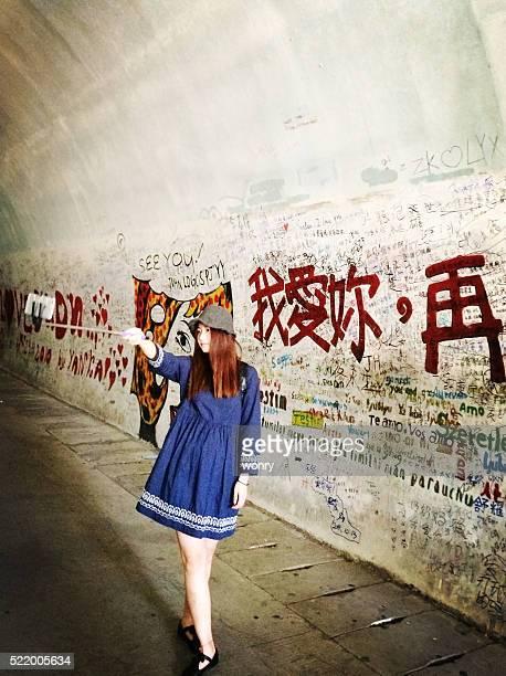 asiático retrato de la hermosa chica sin servicio de valet - xiamen fotografías e imágenes de stock