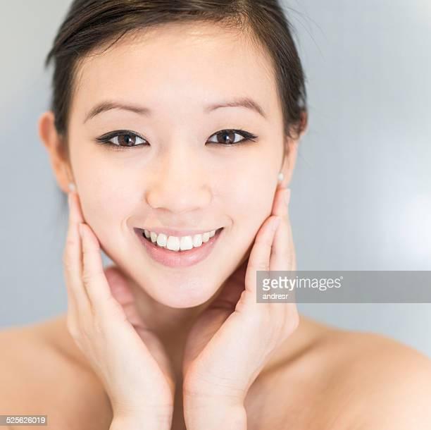 portrait de beauté asiatique