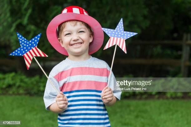 Asian boy celebrating Independence Day