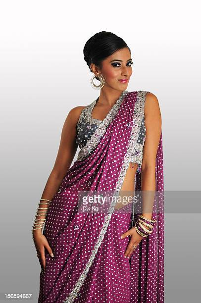 Asian bride model wearing a saree