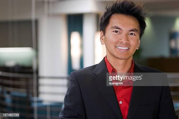 Asian Business Man Smiling Portrait