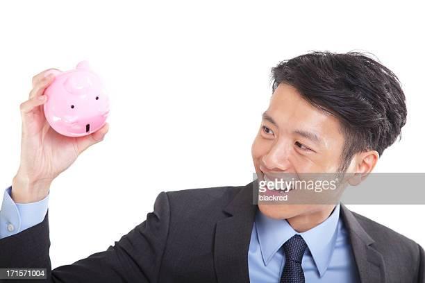 アジアのビジネスマンながらピギー銀行