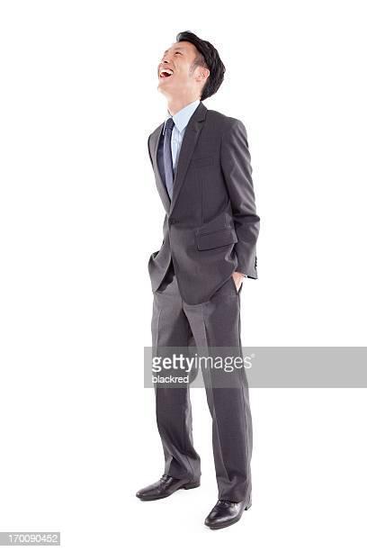 Asian Businessman Laughing