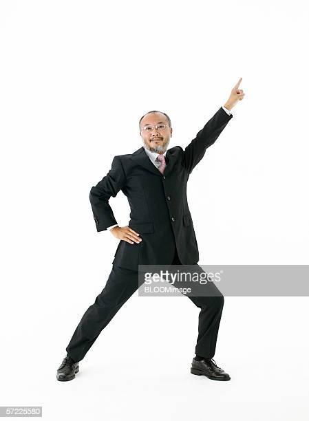 Asian businessman posing