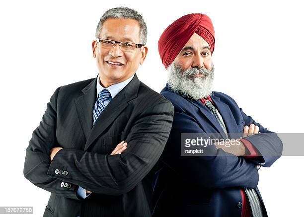 Asian Businessmen Standing Together - Isolated