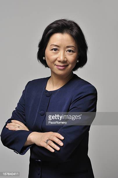 Asian businesswoman with blue suit