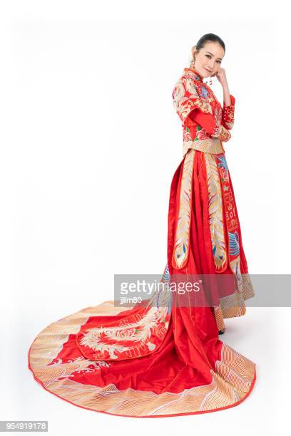 Asian Chinese in traditional wedding dress