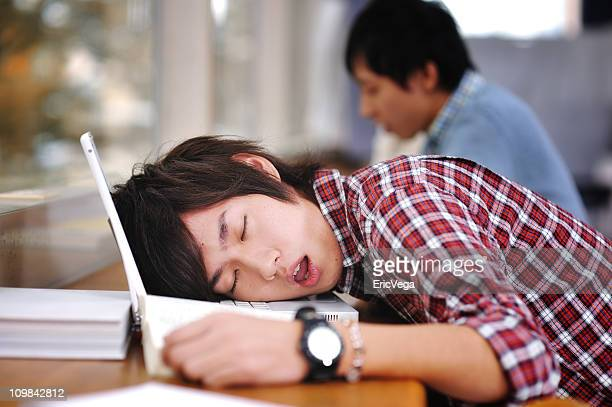 Asian College Student Sleeping