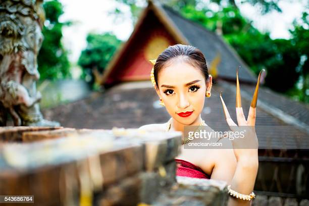 Asian Dancer with Extended Fingers