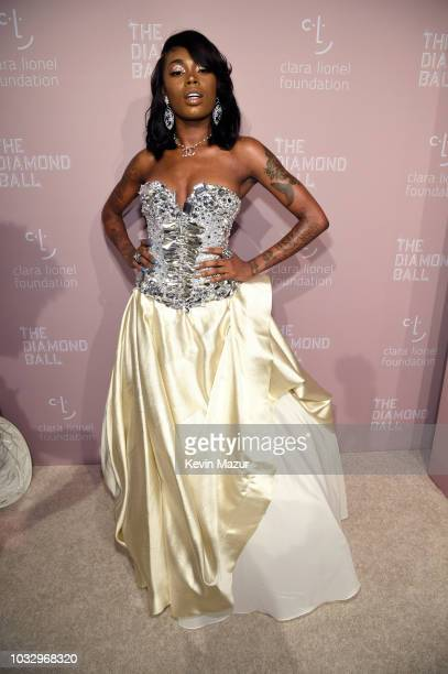 Asian Doll attends Rihanna's 4th Annual Diamond Ball benefitting The Clara Lionel Foundation at Cipriani Wall Street on September 13 2018 in New York...