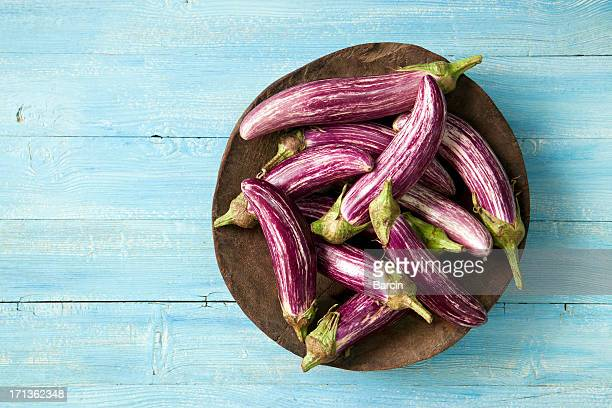 asian eggplants - eggplant stock photos and pictures