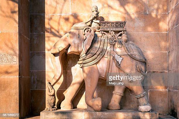 Asian elephant carving Jain Palitana temples