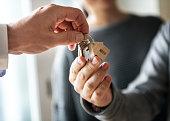 Asian family buy new house