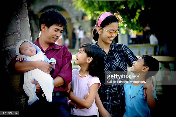 Asian family of five