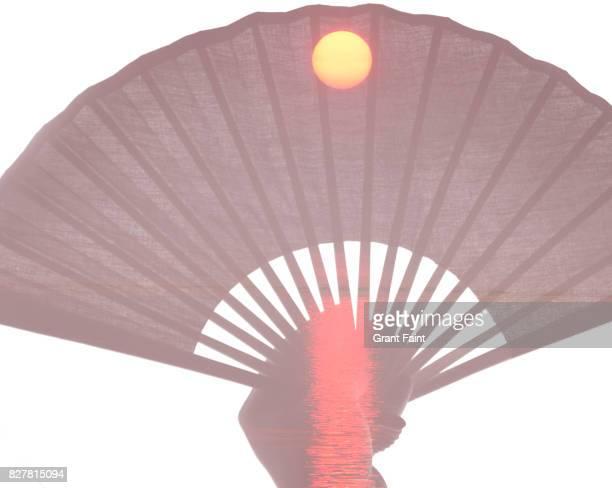Asian fan and sunrise combo.