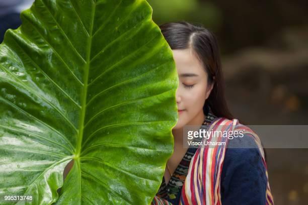 Asian farmer concept