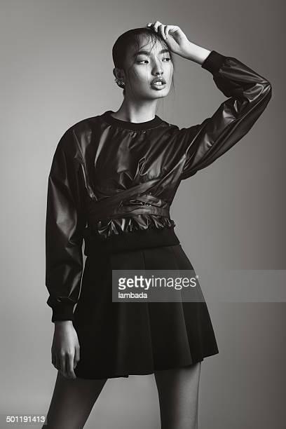 Asian fashionable woman