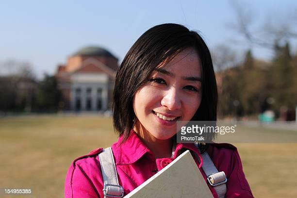 Asiatische weibliche College-Student-XL