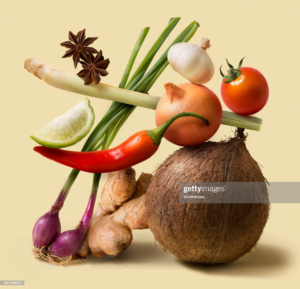 Asian food fresh uncooked vegetable still life. : Stock Photo