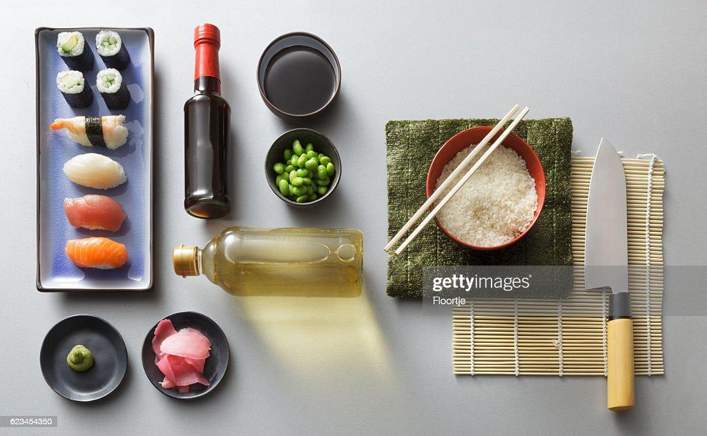 Asian Food: Sushi Ingredients Still Life : Stock Photo
