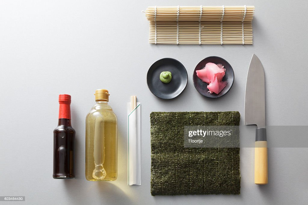 Asian Food: Sushi Ingredients Still Life : Stock Photo