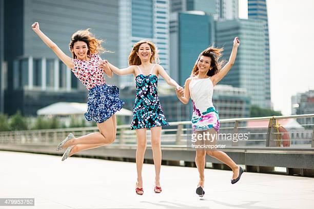 アジアのご友人とのジャンプ、シンガポールの街