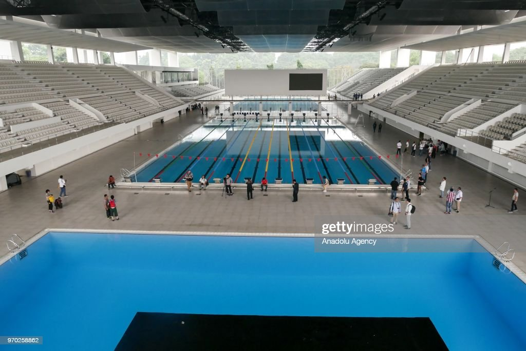 Asian Games  Venue Preparation At Aquatic Center Gbk Sports Complex In Jakarta Indonesia On