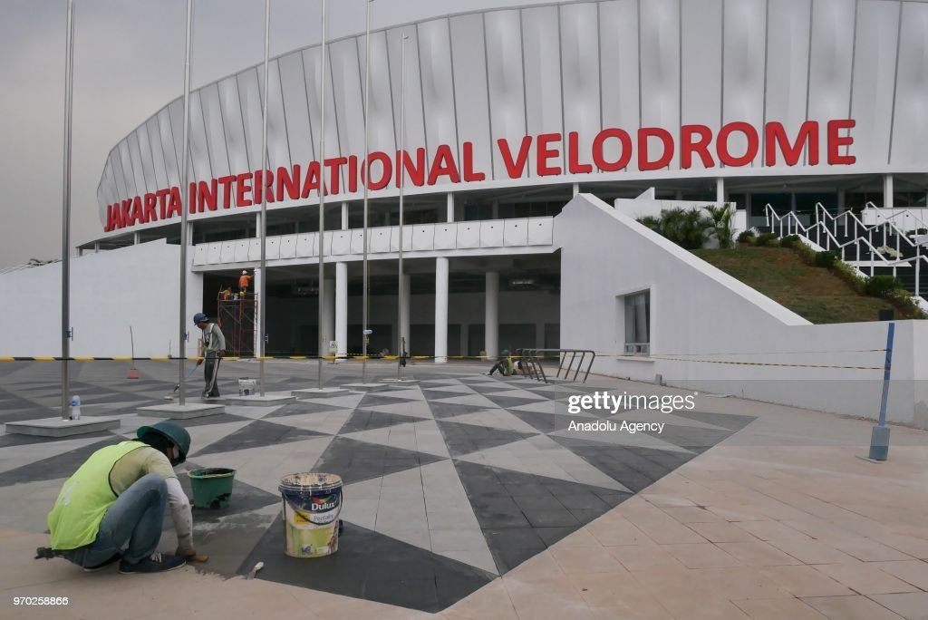asian games 2018 venue preparation at velodrome in jakarta indonesia picture id970258866 - Asian Games Preparation