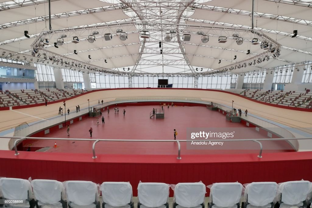 asian games 2018 venue preparation at velodrome in jakarta indonesia picture id970258896 - Asian Games Preparation