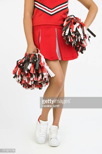 asian girl in cheerleading outfit - asian cheerleaders stock photos and pictures