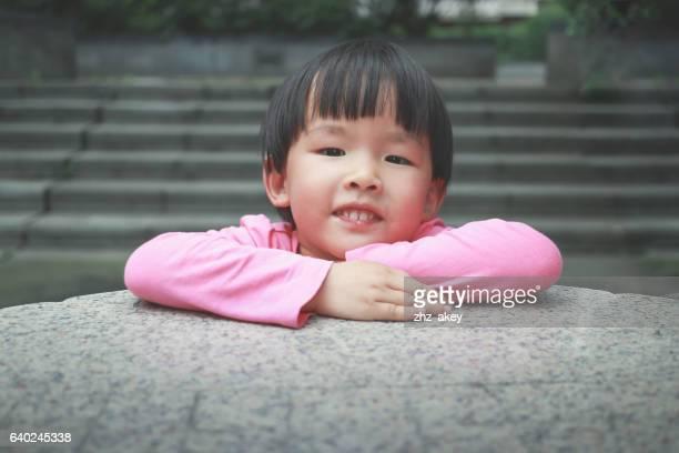 Asiatische Mädchen lächelnd