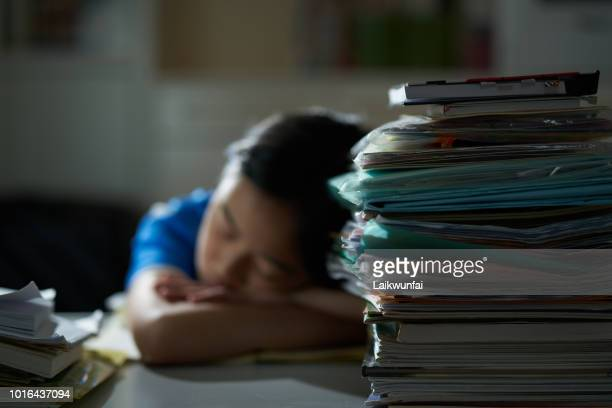 asian girl studying hard - korean teen stock pictures, royalty-free photos & images