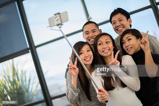 Asian group taking a selfie