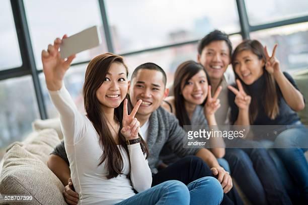 アジアのグループ、写真を語る