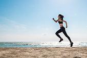 asian healthy sport athlete girl running