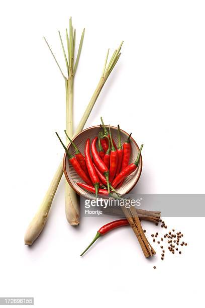 Asian Ingredients: Lemon Grass, Cinnamon, Chili Pepper