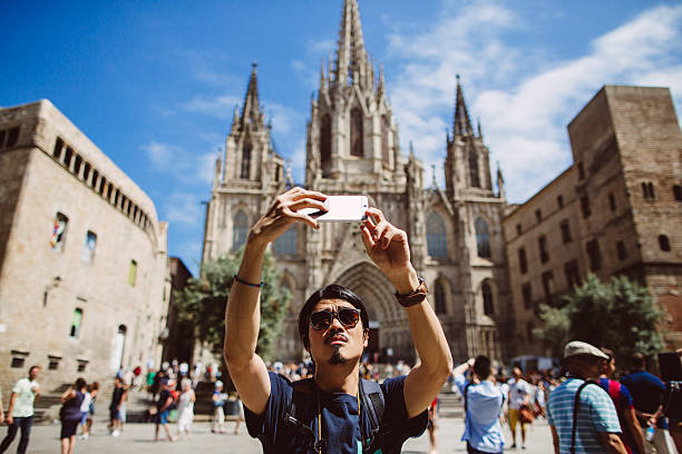 asian man taking selfie picture