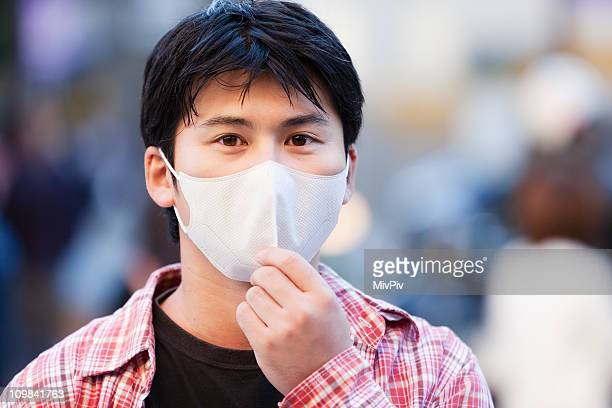 Asian Man with face mask