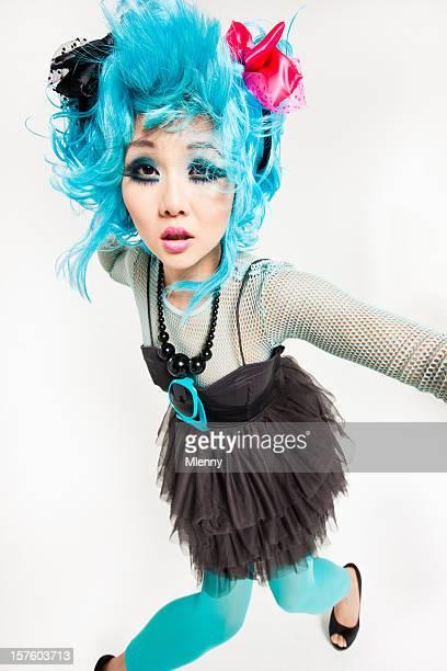 Asian Manga Style Punk Girl