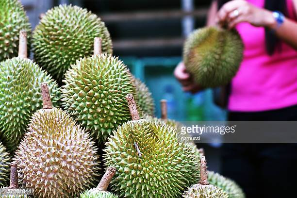 Asian market 1: durians in Singapore